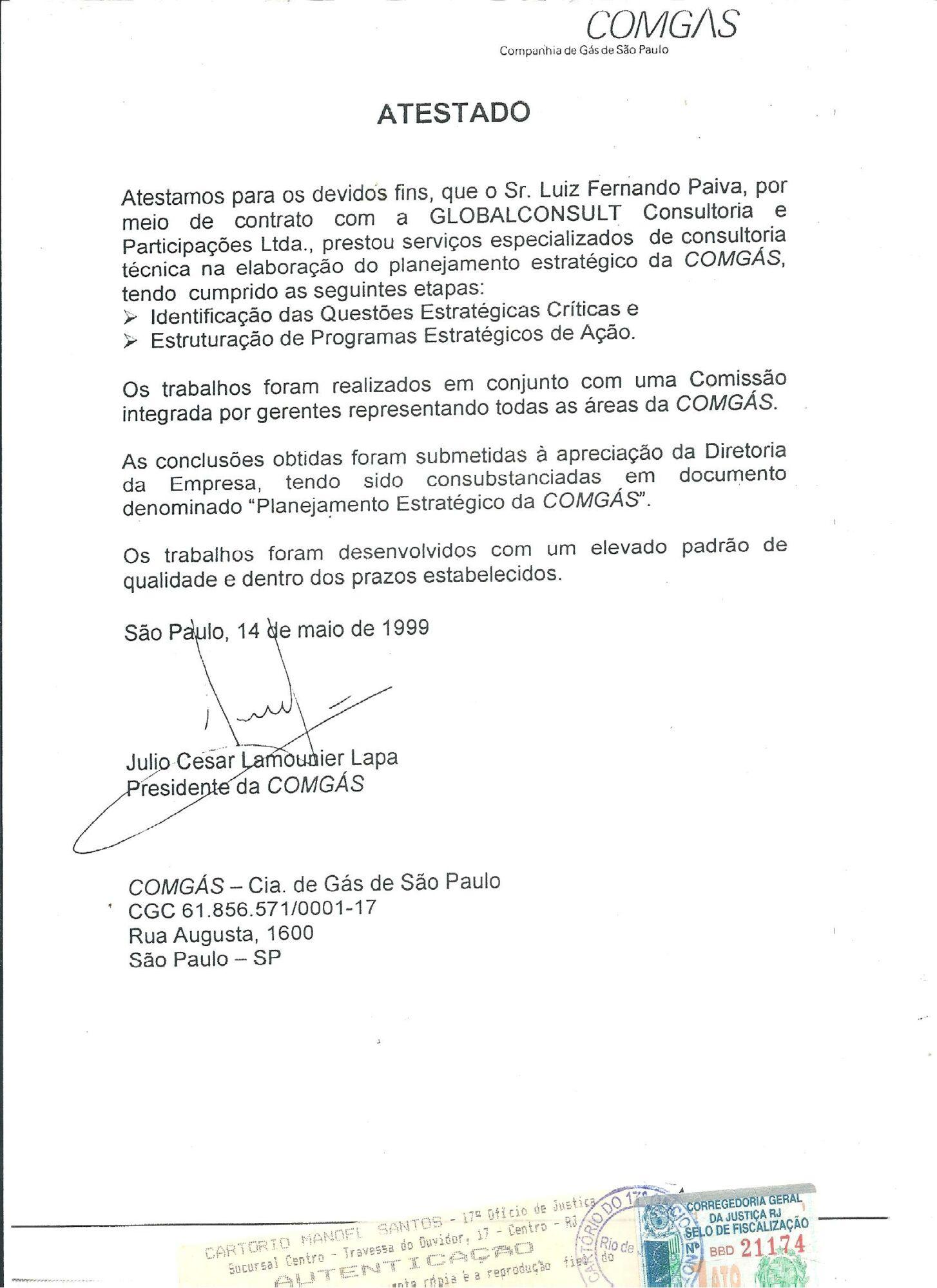 ATESTADO COMGÁS